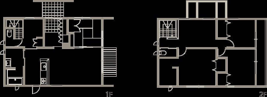 パーゴラ付き 実際以上の高さと広さを生み出す新築-間取り-|郡山市 注文住宅 大原工務店の施工例