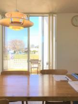 見学会を開催した新築注文住宅O様邸 ダイニングから見た景色です。郡山市安積町| 郡山市 新築住宅 大原工務店のブログ