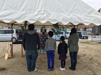 施主様がそろったら、地鎮祭が始まります。田村市船引町|郡山市 新築住宅 大原工務店のブログ