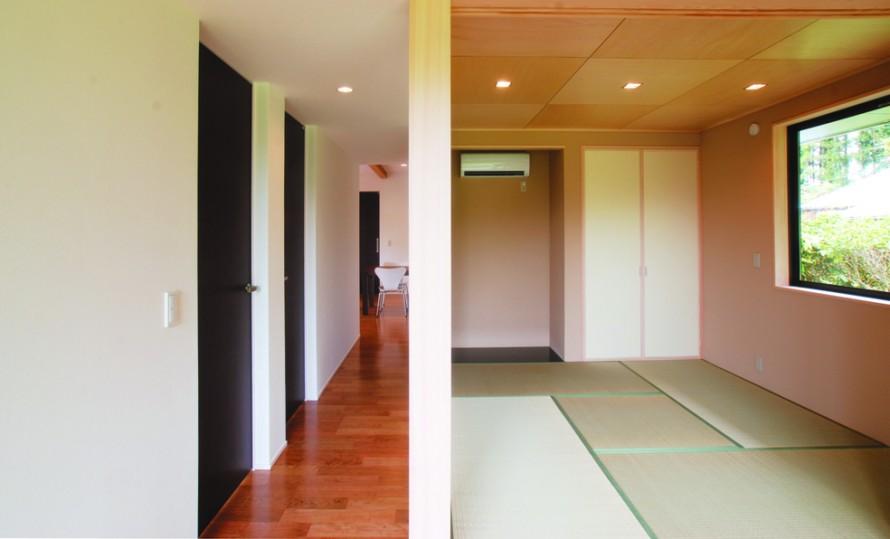 平屋造りの長所を生かし新しい形を提案する-廊下-|郡山市 注文住宅 大原工務店の施工例