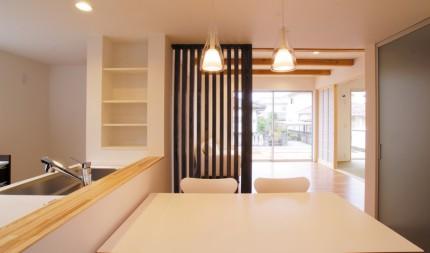 シンプル&ナチュラル キューブ型のこだわり一戸建て-キッチン-|郡山市 注文住宅 大原工務店の施工例