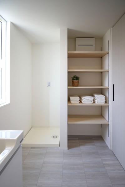 郡山市安積町モデルハウス「ライフボックス」の洗面所です。| 郡山市 新築住宅 大原工務店のブログ