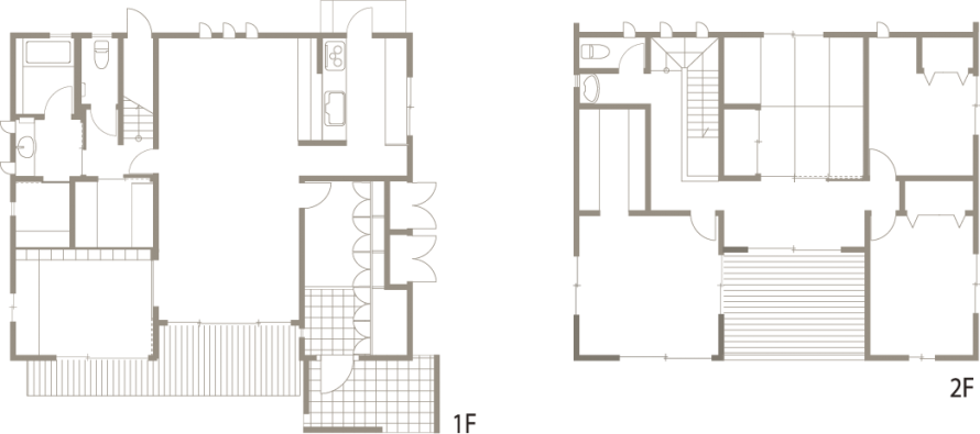 アルミ製ルーバーが際立った印象を感じさせる洗練された注文住宅-間取り-|郡山市 注文住宅 大原工務店の施工例
