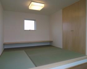 動線、収納、ライフスタイル等、機能を追求したシンプルデザイン-和室-|郡山市 注文住宅 大原工務店の施工例