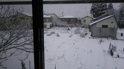 実家の会津若松の雪