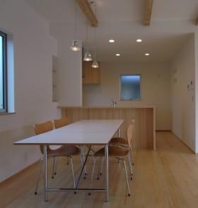 動線、収納、ライフスタイル等、機能を追求したシンプルデザイン-キッチン-|郡山市 注文住宅 大原工務店の施工例