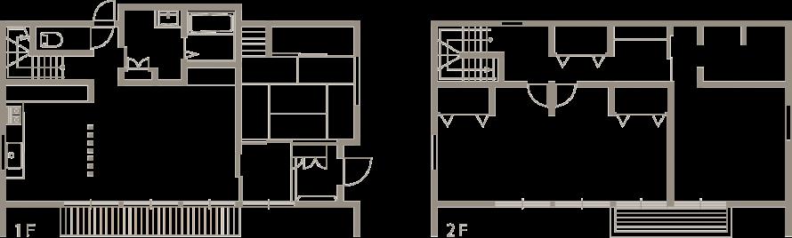 ガルバリウム黒色の外観と木のぬくもりを感じる注文住宅-間取り-|郡山市 注文住宅 大原工務店の施工例