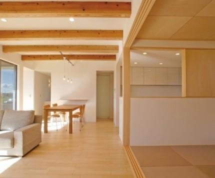 動線.収納.美しさを追求した平屋建寄棟の家-LDK+和室-|郡山市 注文住宅 大原工務店 施工例
