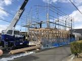 上棟午前中の状況です 郡山市大槻町 | 郡山市 新築住宅 大原工務店のブログ