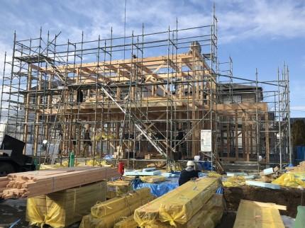 建方の午後の風景です 田村市船引町 | 郡山市 新築住宅 大原工務店のブログ