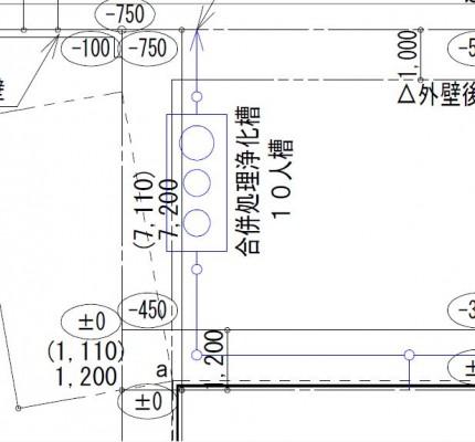 浄化槽の位置も、審査の一つです。田村郡三春町|郡山市 新築住宅 大原工務店のブログ