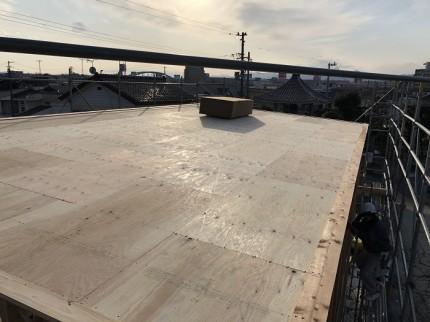野地板施工終わりました 郡山市小原田 | 郡山市 新築住宅 大原工務店のブログ