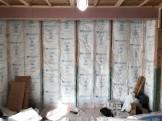 壁の断熱材を施工しております。郡山市小原田|郡山市 新築住宅 大原工務店のブログ