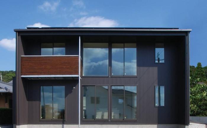 黒いキューブ型の新築注文住宅の施工例です。郡山市安積町| 郡山市 新築住宅 大原工務店のブログ