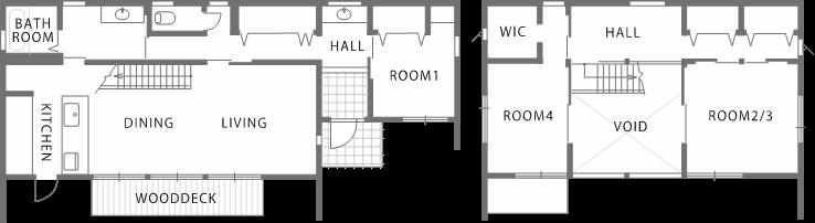 拡がり感のある間取り構成に屋外空間を取り込む注文住宅|郡山市 注文住宅 大原工務店 施工例