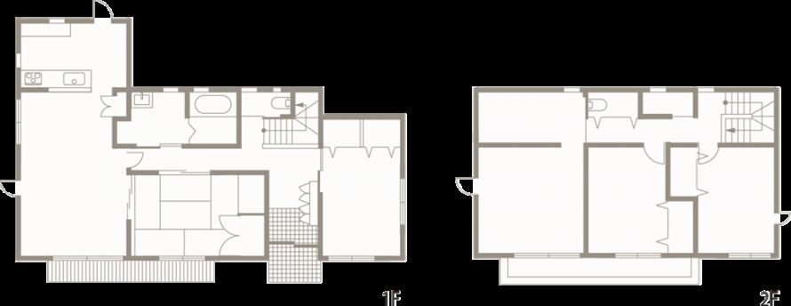 開放感溢れる和モダンな注文住宅AZUSA-間取り-|郡山市 注文住宅 大原工務店の施工例