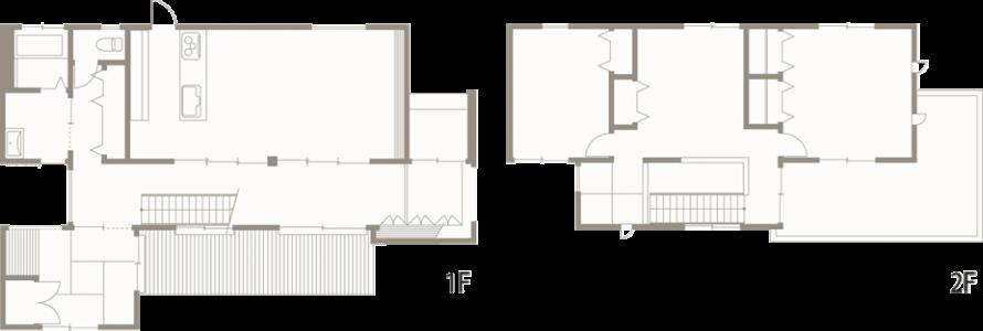 黒白のコントラストが美しい和の住まい-間取り-|郡山市 注文住宅 大原工務店の施工例