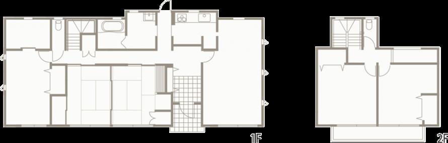 ジャパニーズモダン柔らかな光の差し込む上品な戸建-間取り-|郡山市 注文住宅 大原工務店の施工例