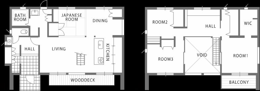 敷地のロケーションから間取りと窓の構成を決定する家-間取り-|郡山市 注文住宅 大原工務店 施工例