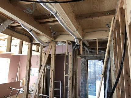 木工事進んでいます。N様邸内部の様子です。郡山市町東|郡山市 新築住宅 大原工務店のブログ