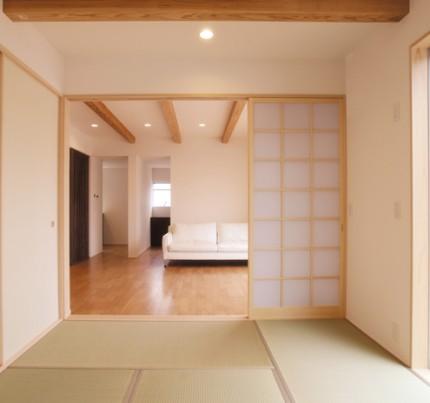 シンプル&ナチュラル キューブ型のこだわり一戸建て-和室-|郡山市 注文住宅 大原工務店の施工例