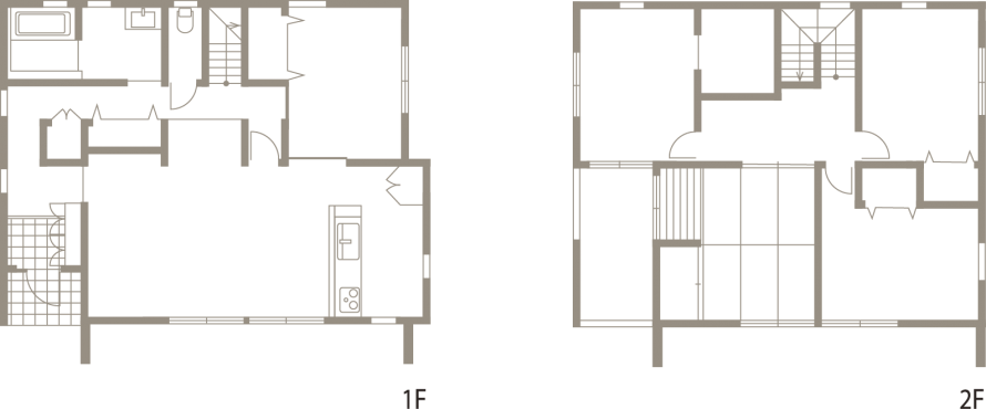 街並みに調和しながら個性も演出する外観デザイン-間取り-|郡山市 注文住宅 大原工務店の施工例
