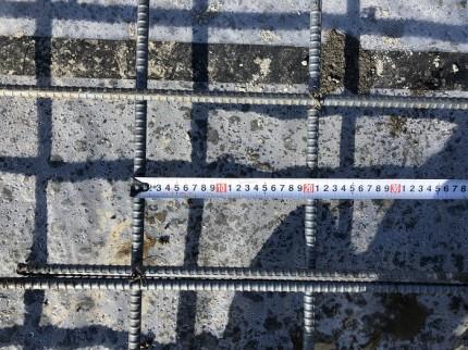 鉄筋のピッチの確認です 郡山市小原田 | 郡山市 新築住宅 大原工務店のブログ