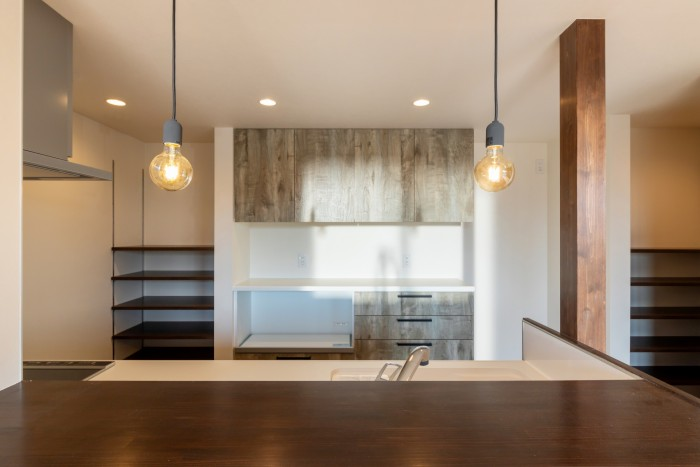 カフェ風のキッチンです!| 郡山市 新築住宅 大原工務店のブログ