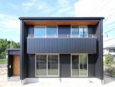 ガルバリウム鋼板の外壁を使ったキューブ型新築住宅です。| 郡山市 新築住宅 大原工務店のブログ