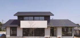 ジャパニーズモダン柔らかな光の差し込む上品な戸建-外観-|郡山市 注文住宅 大原工務店の施工例