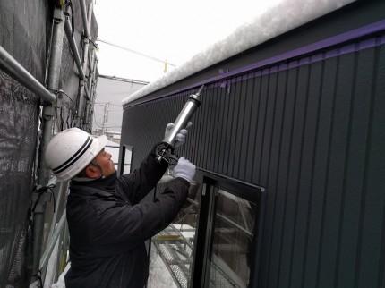 外壁のシーリングを施工しています 郡山市安積町 | 郡山市 新築住宅 大原工務店のブログ
