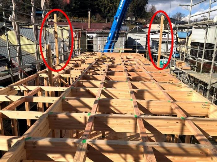 これが家を支える通り柱です。田村郡三春町| 郡山市 新築住宅 大原工務店のブログ