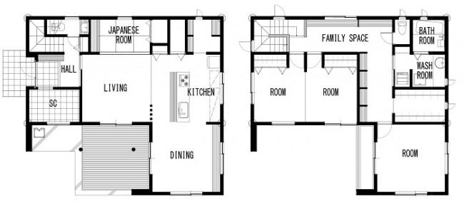 郡山市安積町新モデルハウス-間取り-|郡山市 ゼロ・エネルギー住宅 大原工務店のモデルハウス