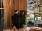 防蟻材を施工しています 郡山市小原田 | 郡山市 新築住宅 大原工務店のブログ