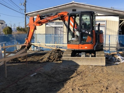 根切り工事が始まりました 郡山市大槻町 | 郡山市 新築住宅 大原工務店のブログ