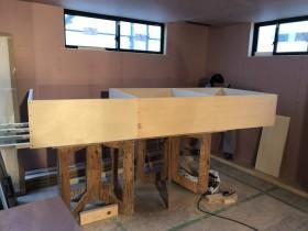 カウンター収納造作工事です。|郡山市 新築住宅 大原工務店のブログ