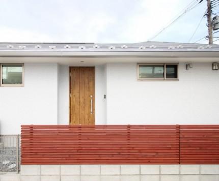 大原工務店で建てたオシャレな平家モデルハウスの玄関です。郡山市安積町| 郡山市 新築住宅 大原工務店のブログ