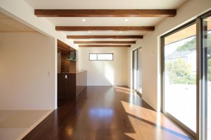 大原工務店で建てたカルフィルニアスタイルのリビングです。| 郡山市 新築住宅 大原工務店のブログ