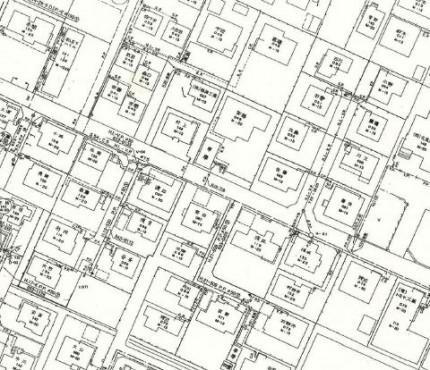 水道局からもらえる水道管図です。福島県福島市|郡山市 新築住宅 大原工務店のブログ