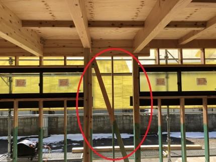筋交いの向きの確認です 郡山市小原田 | 郡山市 新築住宅 大原工務店のブログ