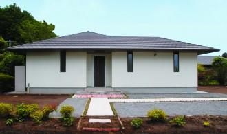 平屋造りの長所を生かし新しい形を提案する-外観-|郡山市 注文住宅 大原工務店の施工例