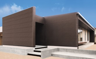 新築戸建 シックで高級感あふれる外観の平屋-外観-|郡山市 注文住宅 大原工務店の施工例