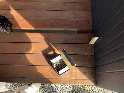 仕上げ材をステンビスで固定していきます。 | 郡山市 新築住宅 大原工務店のブログ