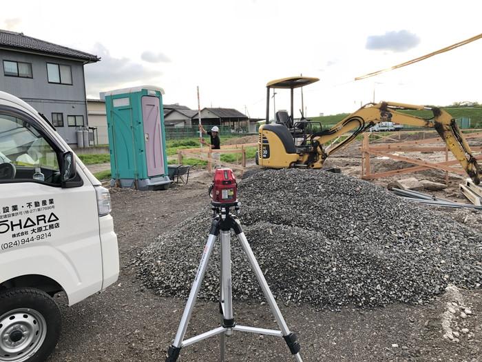 建物の高さの計測です。|郡山市 新築住宅 大原工務店のブログ
