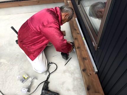 コンクリートビスで鋼製束を固定します。 | 郡山市 新築住宅 大原工務店のブログ