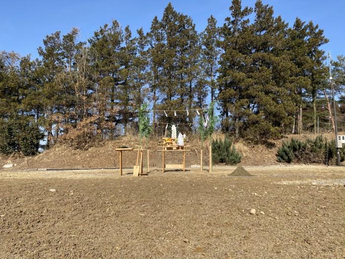 地鎮祭が始まる前に、祭壇を準備します。郡山市日和田町| 郡山市 新築住宅 大原工務店のブログ