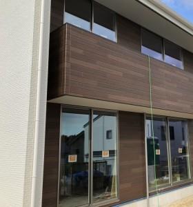 オシャレな外壁の貼りわけをしてます。郡山市田村町  郡山市 新築住宅 大原工務店のブログ