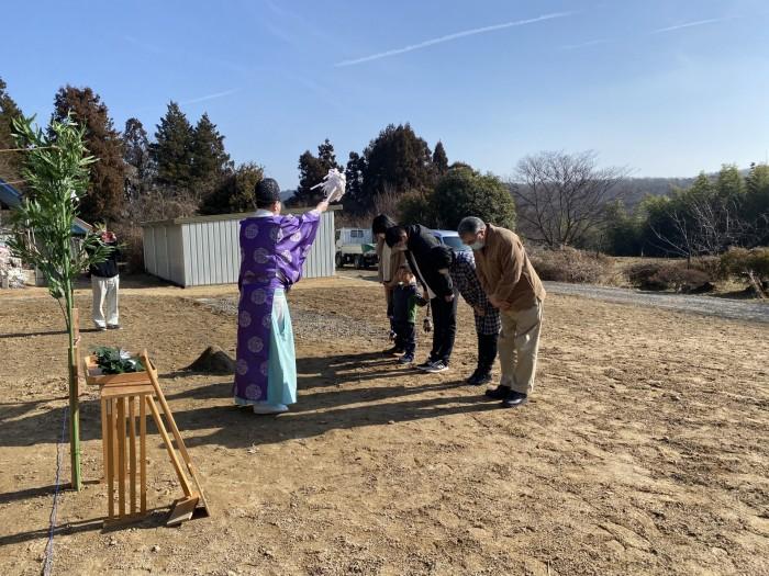 お祓いの儀の様子です。郡山市日和田町| 郡山市 新築住宅 大原工務店のブログ