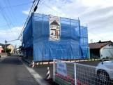 足場シートがかかりました。郡山市喜久田町I様邸  郡山市 新築住宅 大原工務店のブログ