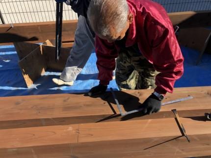 寸法を測っていきます。田村市船引町| 郡山市 新築住宅 大原工務店のブログ